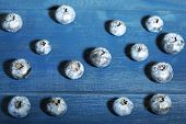 Tasty ripe blueberries, on wooden background