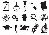 Science Education Vector Icon Set