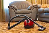 Vacuum Cleaner In Room