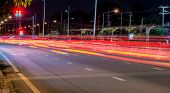 Long Exposure Photo Of Light Trails On The Street