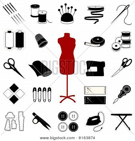 Picture or Photo of 23 tools & supplies for sewing ...