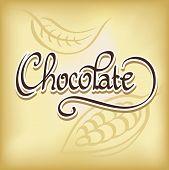 Inscription Chocolate - Calligraphic Text