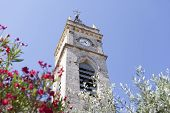 Church steeple and the blue sky