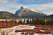 Mount Rundle And Vermilion Lakes In Winter, Banff, Ab