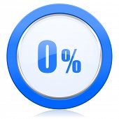 0 percent icon sale sign