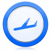 pic of aeroplane symbol  - arrivals icon plane sign  - JPG