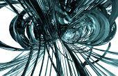 3D cyber futuristic background
