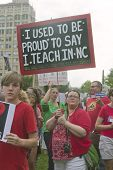 Education Protest Signs At A Moral Monday Rally