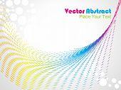 abstract retro vector dots halftone wave