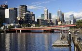 MELBOURNE, AUSTRALIA - JANUARY 13, 2015: Yara River runs through the center of the city