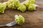 Fresh Of Green Vegetable,romanesco Broccoli, Roman Cauliflower.