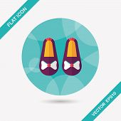 Baby Booties Flat Icon With Long Shadow,eps10