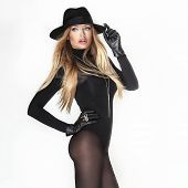 Attractive Blonde Woman In Hat