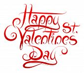 Calligrapgy For St Valentines Day