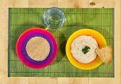 Porridge of millet, crude millet, water