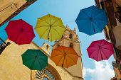 umbrellas over the city