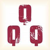 Grunge vector Q letter