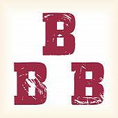 Grunge vector B letter