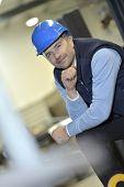 Portrait of supervisor in industrial factory