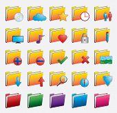 Folder web icons set