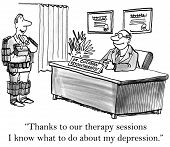 Depression and Therapy Session