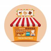 Bake Shop Or Baking Store Vector Concept