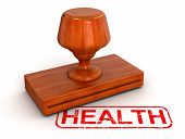 Rubber Stamp health  (clipping path included)
