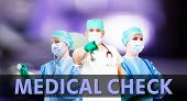 Medical Check Background