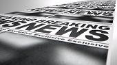 Newspaper Press Run