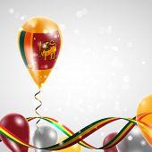Flag of Sri Lanka on balloon