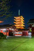 Sensoji Temple Pagoda, Asakusa, Tokyo, Japan