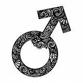 foto of gender  - Vector Male Gender Symbol - JPG