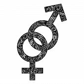 Vector Union of Male and Female Gender Symbols