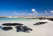 pic of faro  - Fuerteventura rippled sand around Faro de Toston - JPG