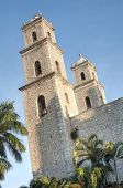 image of yucatan  - Exterior and side view of the Church of the Third Order in Merida Yucatan - JPG