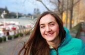 Happy Beautiful Girl In Paris