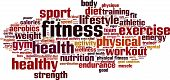 image of cardio exercise  - Fitness Word Cloud Concept - JPG