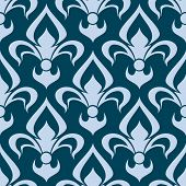 Arabesque seamless pattern with a fleur de lys