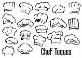 Chef hats and toques set