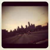 Philadelphia skyline at dusk
