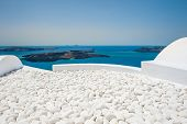 foto of landscape architecture  - Terrace in the hotel with decorative white stones - JPG