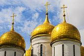 Close up.The Cathedral of the Annunciation in Kremlin, Moscow, Russia
