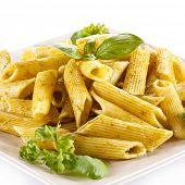 image of pesto sauce  - Pasta with pesto sauce - JPG