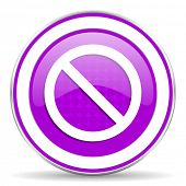 pic of denied  - access denied violet icon  - JPG