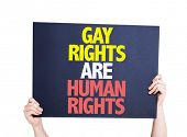 picture of human rights  - Gay Rights Are Human Rights card isolated on white - JPG