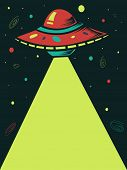 picture of laser beam  - Illustration of a Spaceship Shooting a Laser Beam - JPG