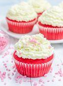 picture of red velvet cake  - Red velvet cupcakes with ricotta cheese frosting - JPG