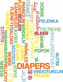 foto of diaper  - Background concept wordcloud multilanguage international many language illustration of diapers - JPG