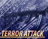 picture of war terror  - Abstract background digital collage concept illustration terror attack terrorism - JPG