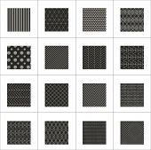 picture of zigzag  - Set of 16 abstract geometric patterns - JPG